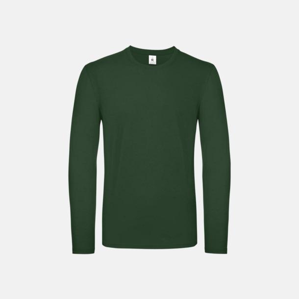 Bottle Green (herr) Fina, långärmade kvalitets bas t-shirts med reklamtryck