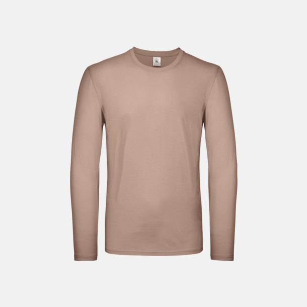 Millennial Pink (herr) Fina, långärmade kvalitets bas t-shirts med reklamtryck