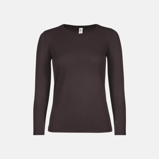 Bear Brown (dam) Fina, långärmade kvalitets bas t-shirts med reklamtryck