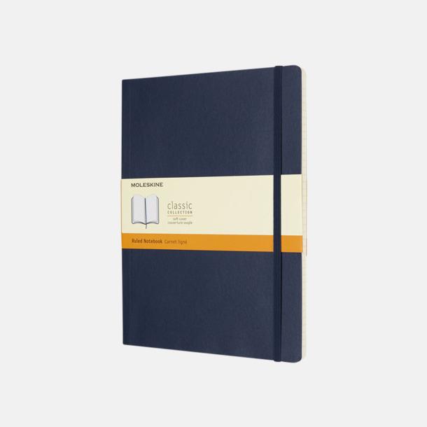 Sapphire (ruled) Moleskine extra stora, mjuka notisböcker i 4 utföranden med reklamtryck