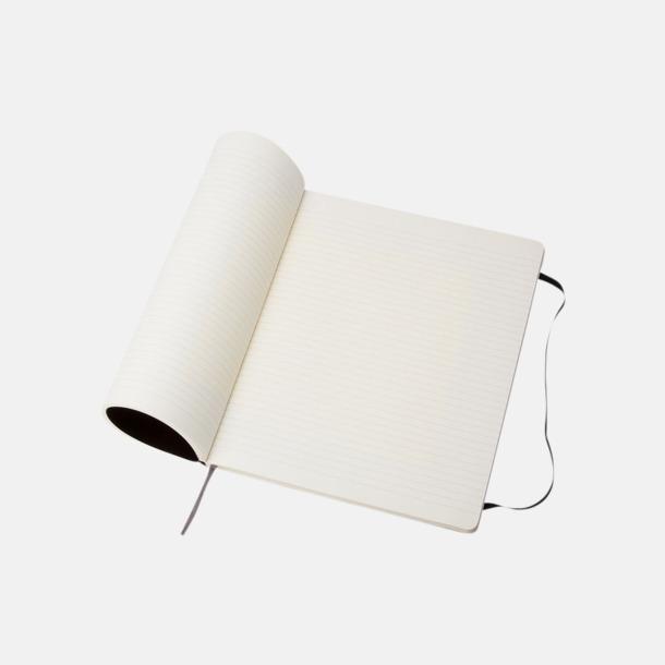 Softcover Moleskine extra stora, mjuka notisböcker i 4 utföranden med reklamtryck