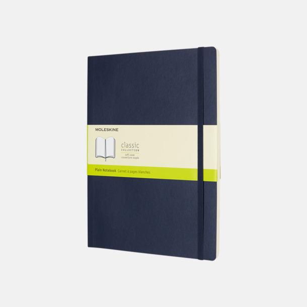 Sapphire (plain) Moleskine extra stora, mjuka notisböcker i 4 utföranden med reklamtryck