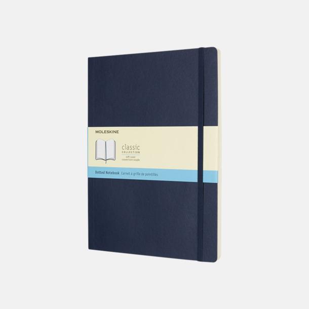 Sapphire (dotted) Moleskine extra stora, mjuka notisböcker i 4 utföranden med reklamtryck