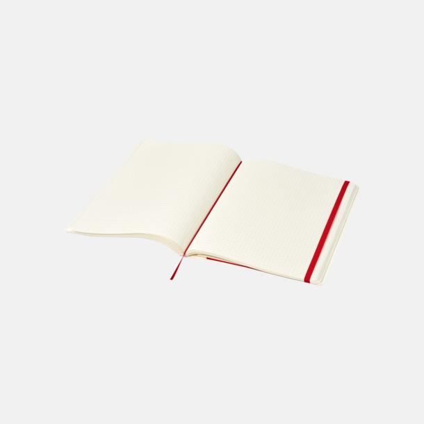 Rutade sidor (squared) Moleskine extra stora, mjuka notisböcker i 4 utföranden med reklamtryck