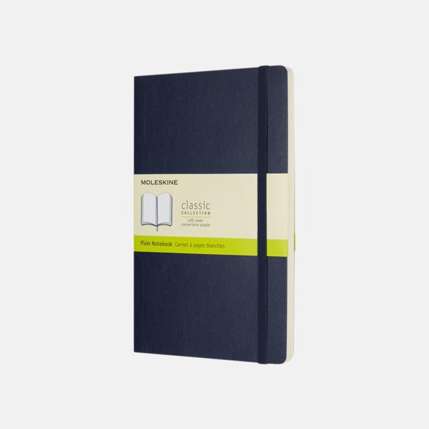 Sapphire (plain) Moleskine mjuka notisböcker i 4 utföranden med reklamtryck