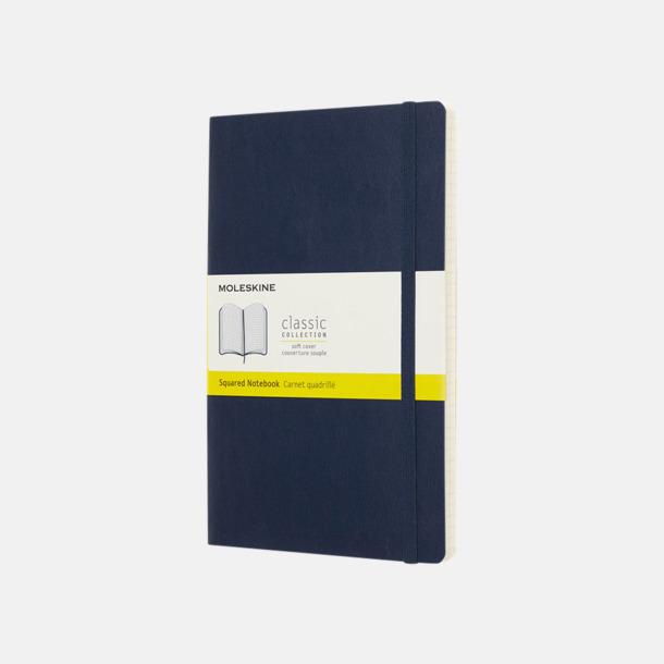 Sapphire (squared) Moleskine mjuka notisböcker i 4 utföranden med reklamtryck