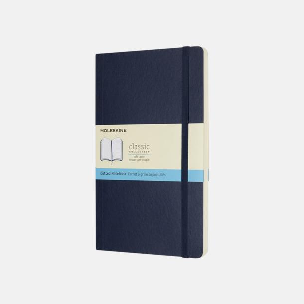 Sapphire (dotted) Moleskine mjuka notisböcker i 4 utföranden med reklamtryck
