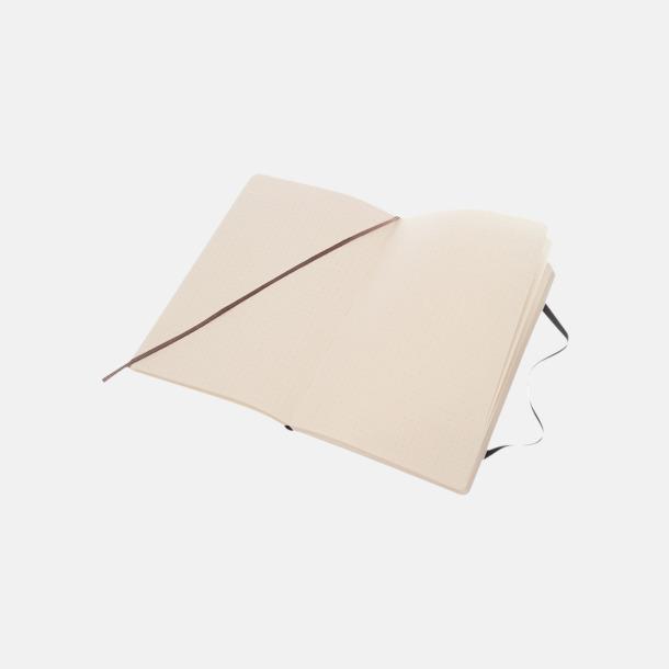 Prickade sidor (dotted) Moleskine mjuka notisböcker i 4 utföranden med reklamtryck