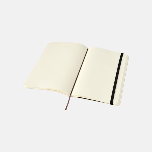 Blanka sidor (plain) Moleskine mjuka notisböcker i 4 utföranden med reklamtryck