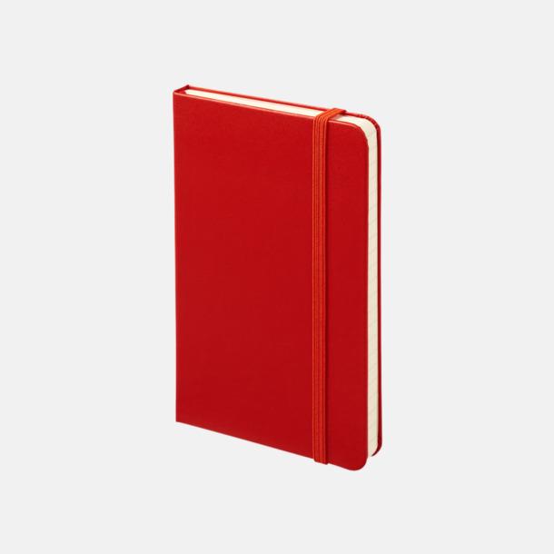 Scarlet Red (ruled) Moleskines mindre (ca A6) anteckningsböcker med reklamtryck