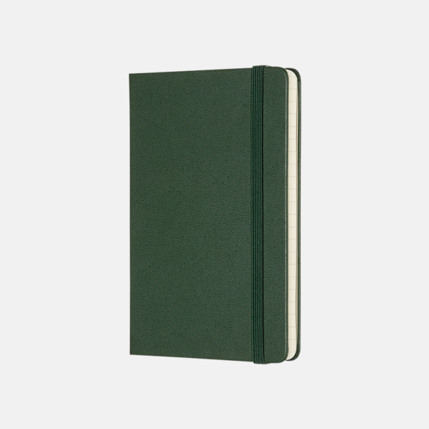Myrtle Green (ruled) Moleskines mindre (ca A6) anteckningsböcker med reklamtryck