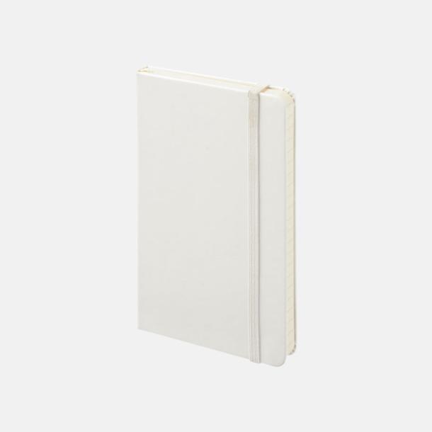 Vit (ruled, plain, squared) Moleskines mindre (ca A6) anteckningsböcker med reklamtryck