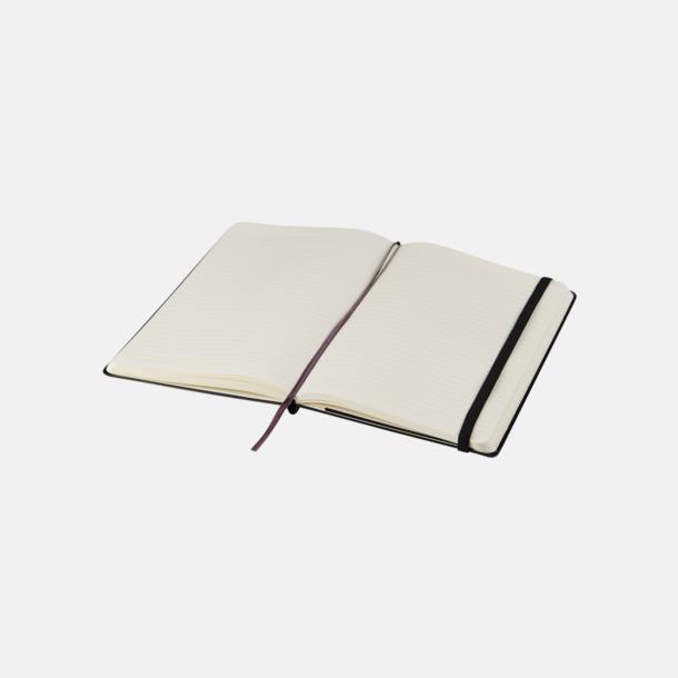 Linjerade sidor (ruled) Moleskines mindre (ca A6) anteckningsböcker med reklamtryck