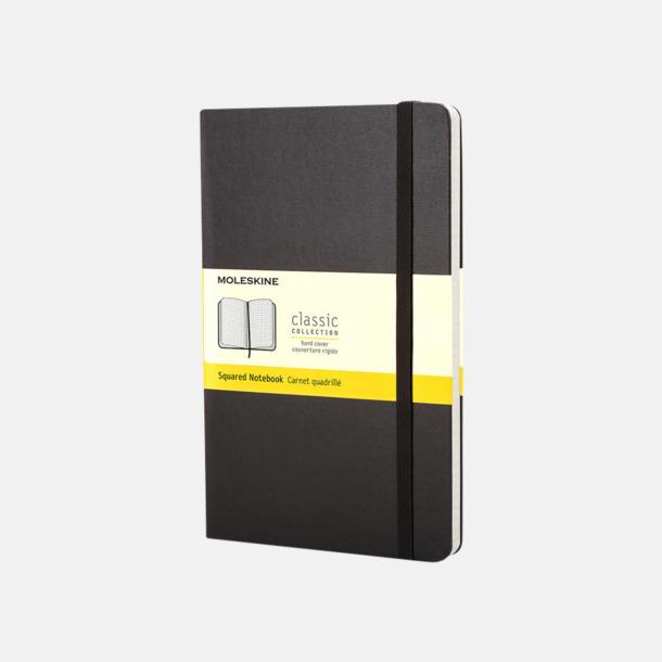Svart (squared) Moleskines mindre (ca A6) anteckningsböcker med reklamtryck