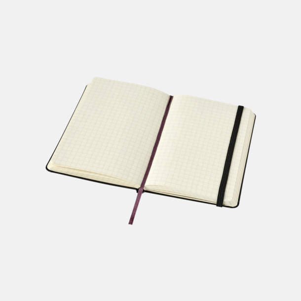 Rutade sidor (squared) Moleskines mindre (ca A6) anteckningsböcker med reklamtryck