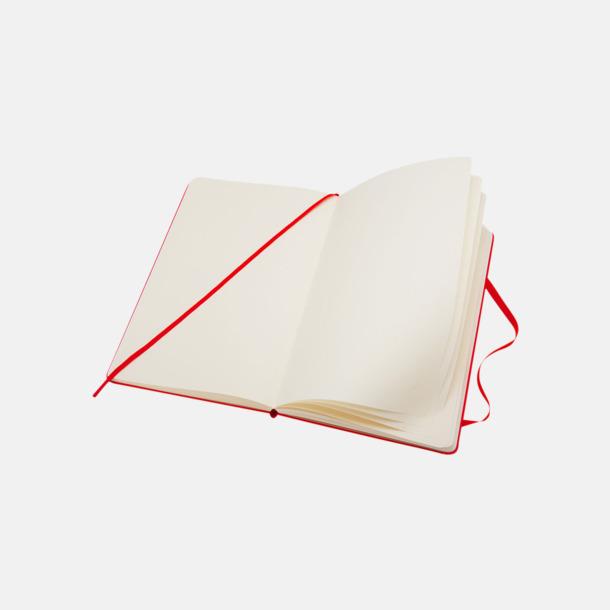 Blanka sidor (plain) Moleskines mindre (ca A6) anteckningsböcker med reklamtryck