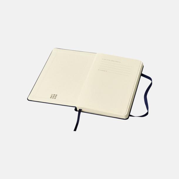 Moleskines mindre (ca A6) anteckningsböcker med reklamtryck
