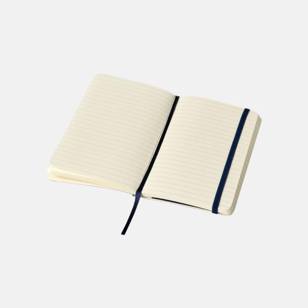 Linjerade sidor (ruled) Moleskines mjuka anteckningsböcker i mindre format (ca A6) - med reklamtryck
