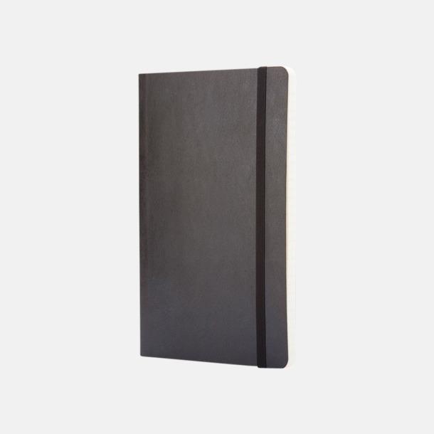 Svart (ruled) Moleskines mjuka anteckningsböcker i mindre format (ca A6) - med reklamtryck