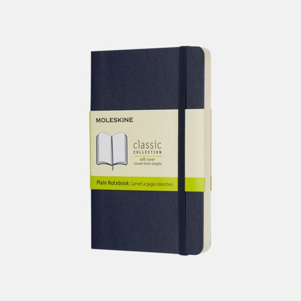 Sapphire (plain) Moleskines mjuka anteckningsböcker i mindre format (ca A6) - med reklamtryck