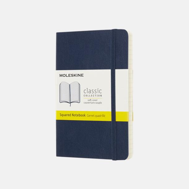 Sapphire (squared) Moleskines mjuka anteckningsböcker i mindre format (ca A6) - med reklamtryck