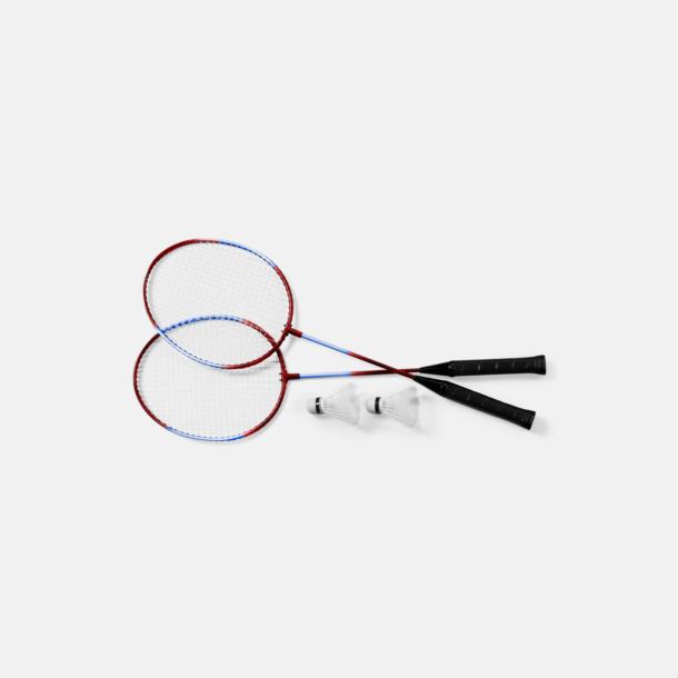 Svart/Röd/Blå Komplett badmintonset med reklamtryck