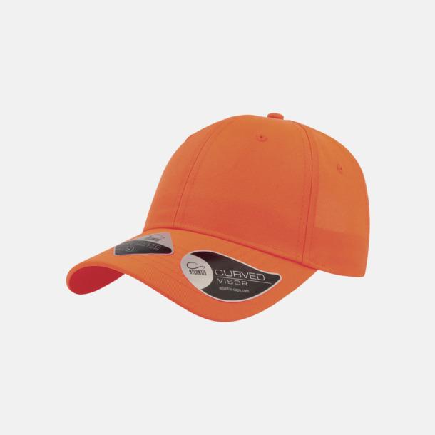Orange Kepsar i återvunnet material med reklamlogo