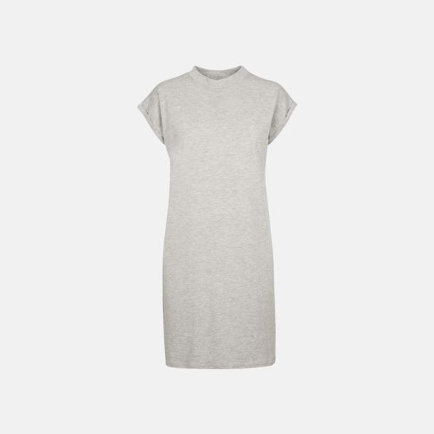 Heather Grey T-shirt klänningar med reklamtryck