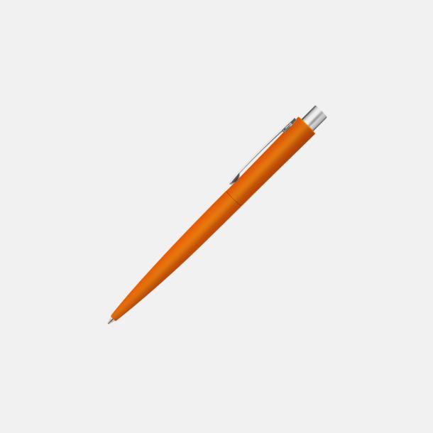 Orange Metallpennor med soft touch kropp med reklamtryck