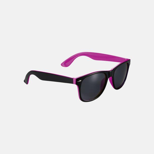 Solglasögon med bågar i kontrasterande färg - med reklamtryck
