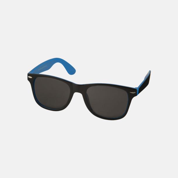 Process Blue/Svart Solglasögon med bågar i kontrasterande färg - med reklamtryck