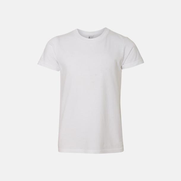 Vit Barn t-shirts med reklamtryck