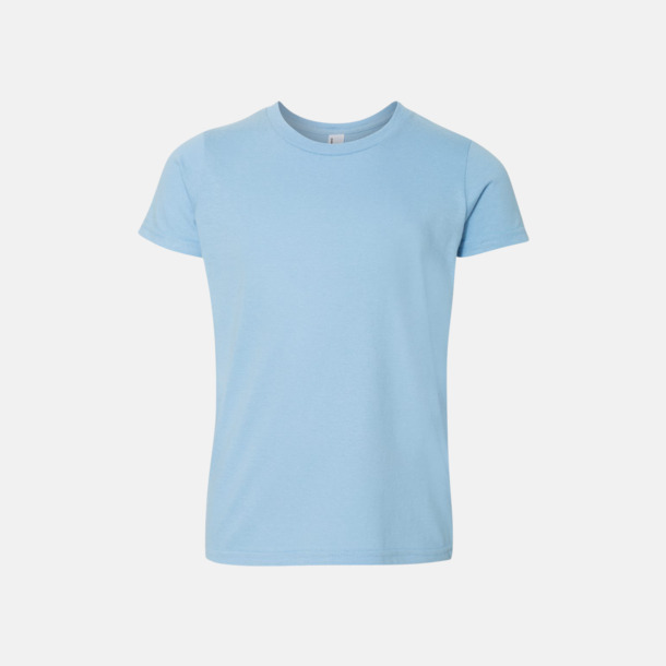 Ljusblå Barn t-shirts med reklamtryck