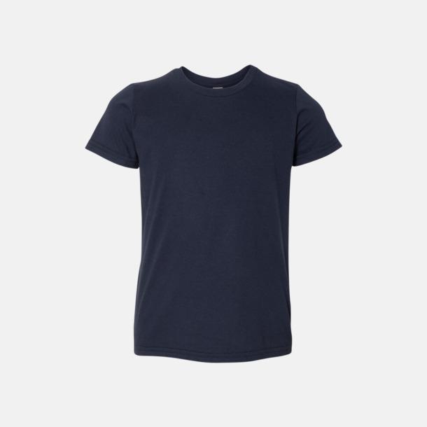Marinblå Barn t-shirts med reklamtryck
