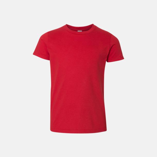 Röd Barn t-shirts med reklamtryck