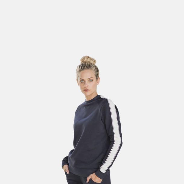 Tjocktröjor med sidorand - med reklamtryck