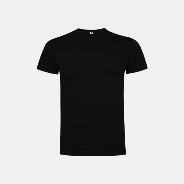 Svart Premium t-shirts med reklamtryck