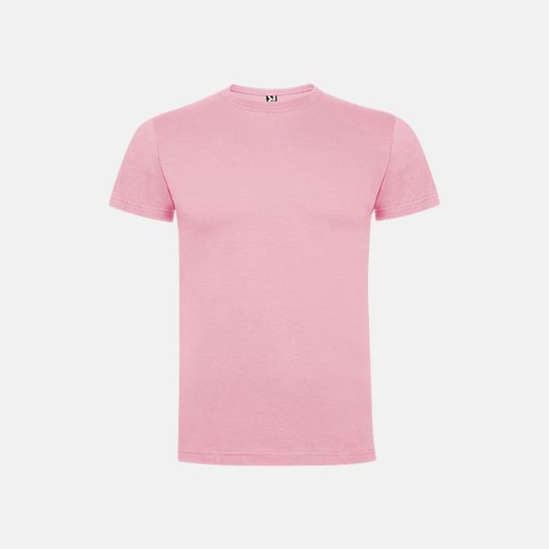 Ljusrosa Premium t-shirts med reklamtryck