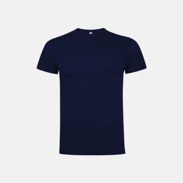 Marinblå Premium t-shirts med reklamtryck
