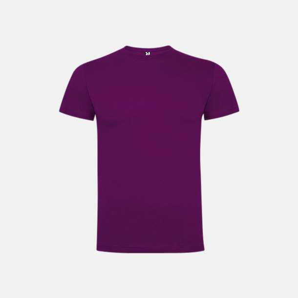 Lila Premium t-shirts med reklamtryck