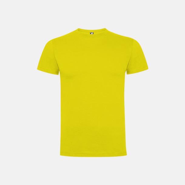 Gul Premium t-shirts med reklamtryck