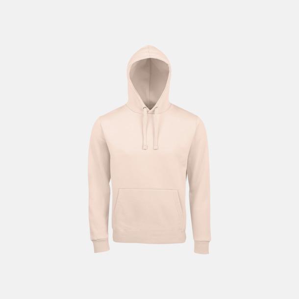 Creamy Pink Mjuka huvtröjor med reklamtryck