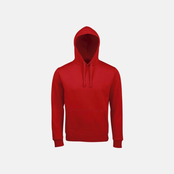 Röd Mjuka huvtröjor med reklamtryck