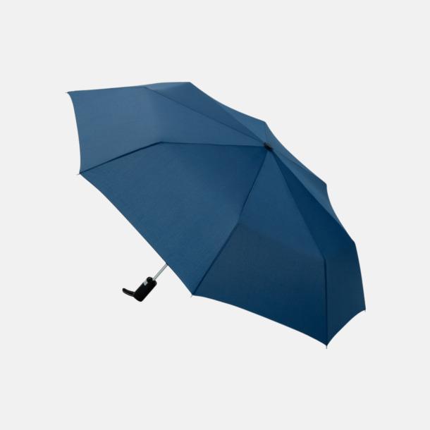 Marinblå Kompaktparaplyer med automatisk uppfällning - med reklamtryck