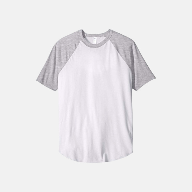 Vit/Heather Grey T-shirts med reklamtryck