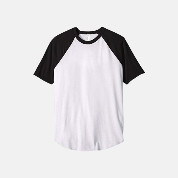 Vit / Svart T-shirts med reklamtryck