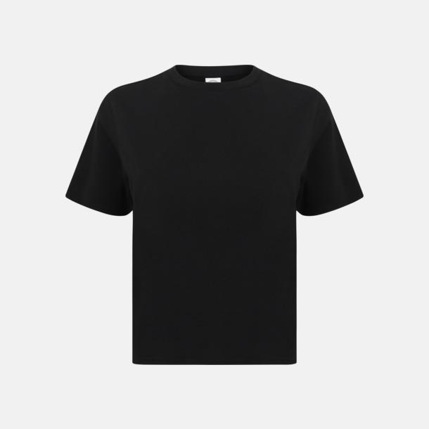 Svart Billiga, korta t-shirts med reklamtryck