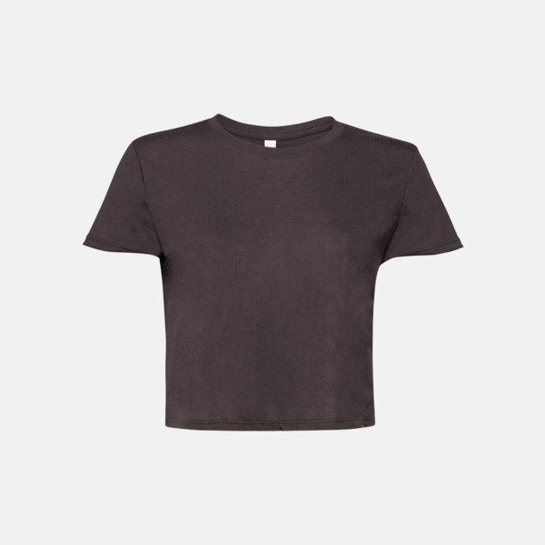 Dark Grey Heather Lössittande, korta t-shirts med reklamtryck