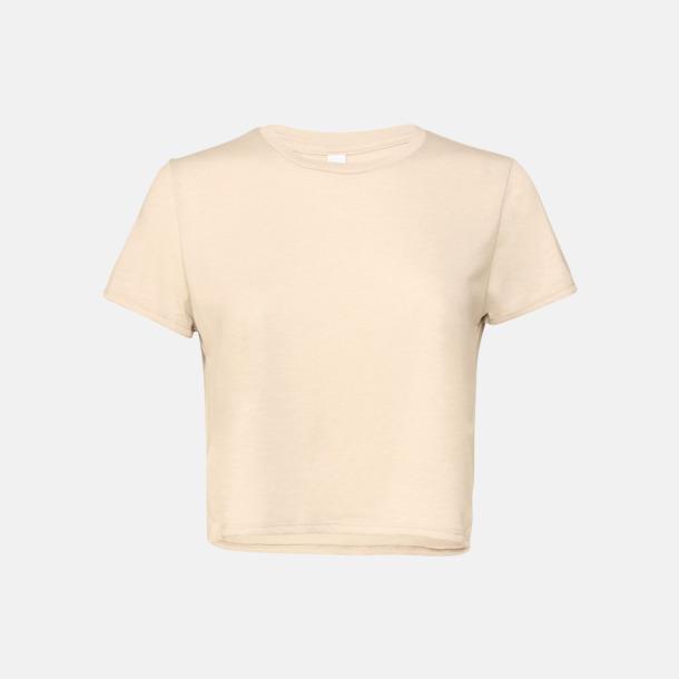 Heather Dust Lössittande, korta t-shirts med reklamtryck