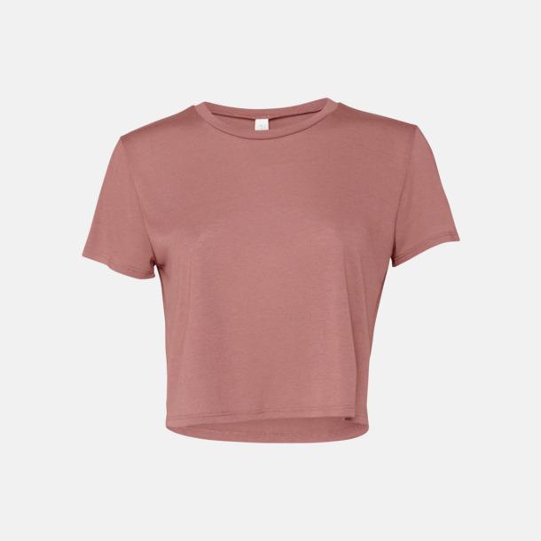 Mauve Lössittande, korta t-shirts med reklamtryck
